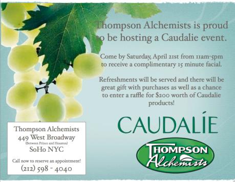 Caudalie at Thompson Alchemists