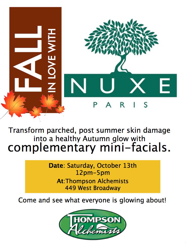 Fall Facials with NUXE