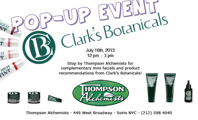 Clark's Botanicals Event
