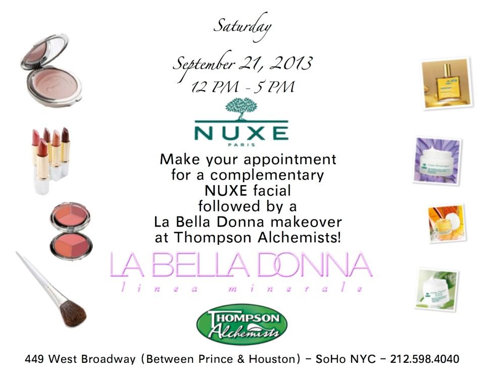 La Bella Donna Mineral Make-up and NUXE skincare