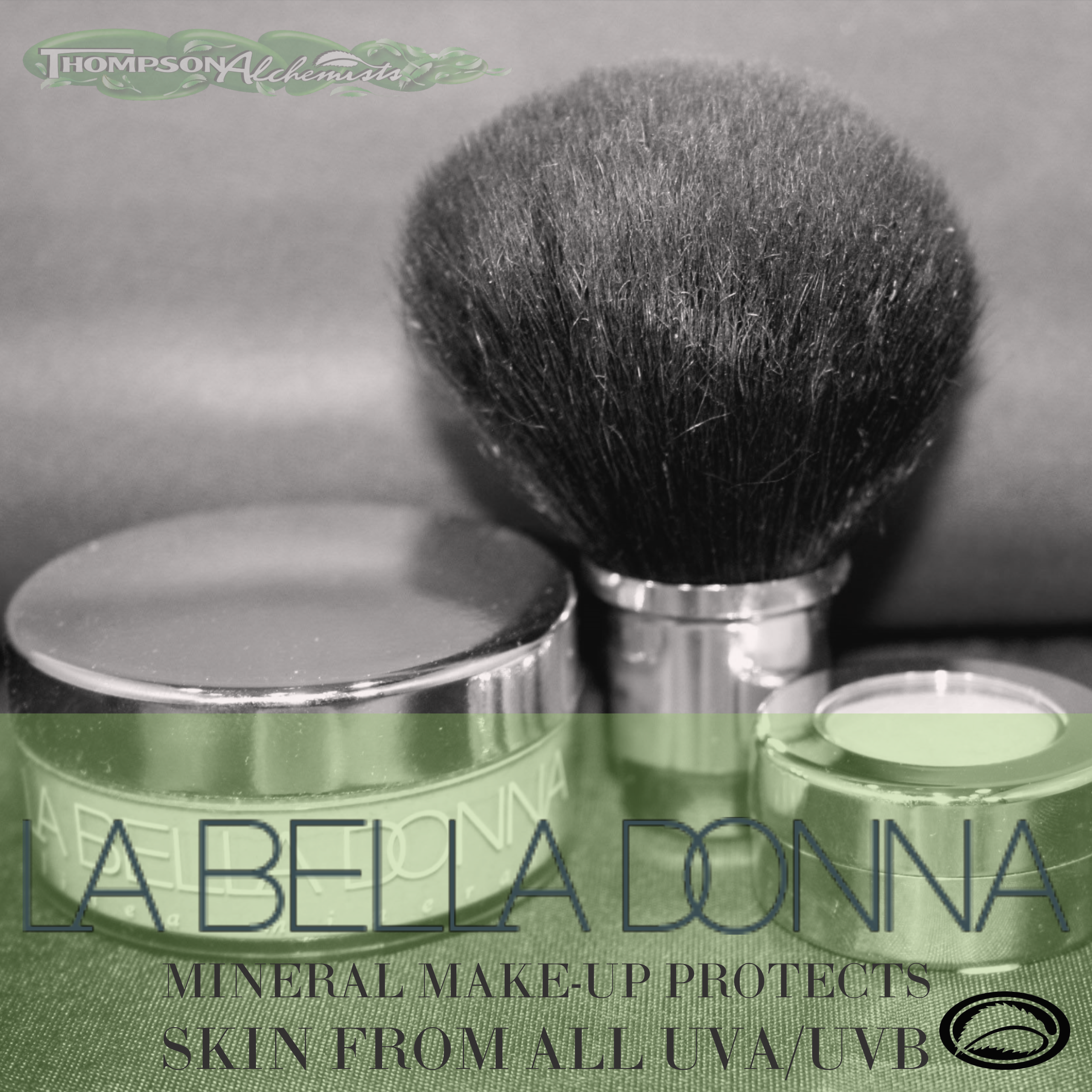 a picture of La Bella Donna Mineral Make-up products available at Thompson Alchemists